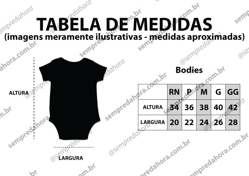 Tabela de medidas bodies