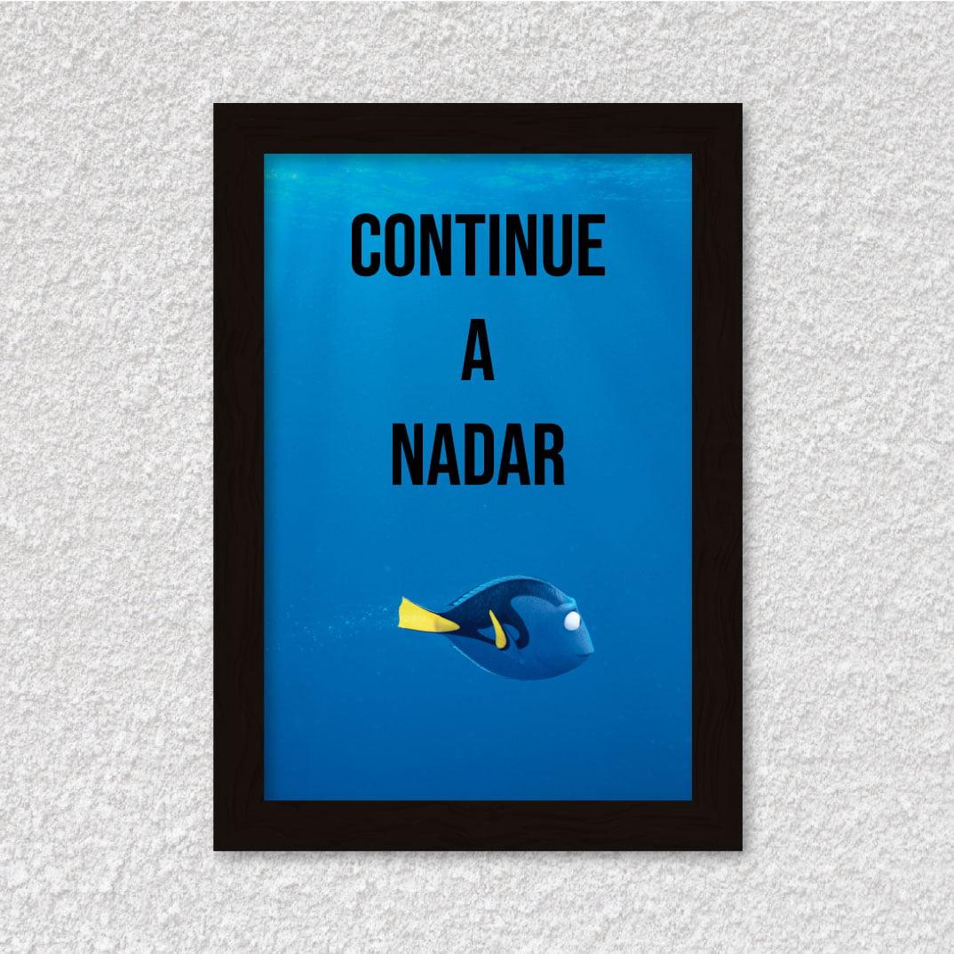 Quadro Decorativo Continue a Nadar