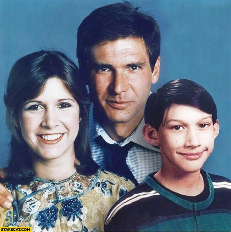 Leia, Han Solo e Kylo Ren criança
