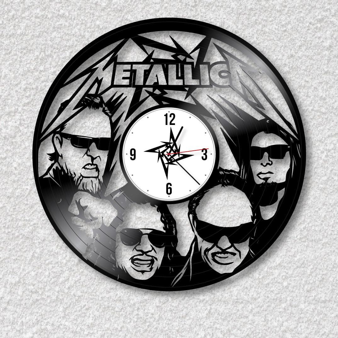 Relógio Metallica de vinil